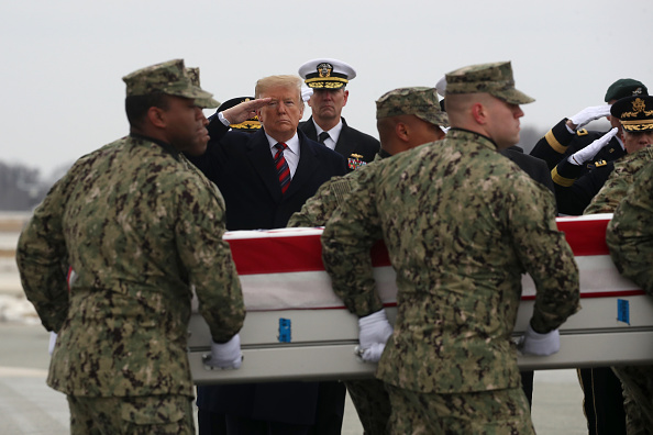 Dover - Delaware「President Trump Attends Dignified Transfer At Dover AFB Of Body Of Defense Intelligence Specialist Scott Wirtz Killed In Syria」:写真・画像(2)[壁紙.com]