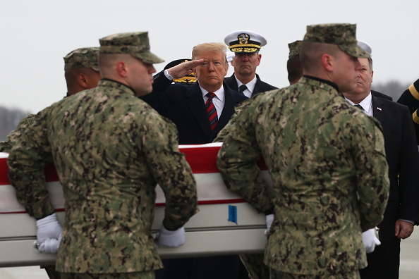 Dover - Delaware「President Trump Attends Dignified Transfer At Dover AFB Of Body Of Defense Intelligence Specialist Scott Wirtz Killed In Syria」:写真・画像(0)[壁紙.com]