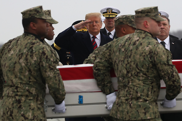 Dover - Delaware「President Trump Attends Dignified Transfer At Dover AFB Of Body Of Defense Intelligence Specialist Scott Wirtz Killed In Syria」:写真・画像(10)[壁紙.com]