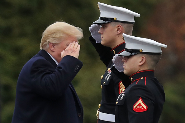 Saluting「President Trump Departs Walter Reed Medical Center After Physical Exam」:写真・画像(11)[壁紙.com]