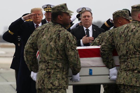 Dover - Delaware「President Trump Attends Dignified Transfer At Dover AFB Of Body Of Defense Intelligence Specialist Scott Wirtz Killed In Syria」:写真・画像(11)[壁紙.com]