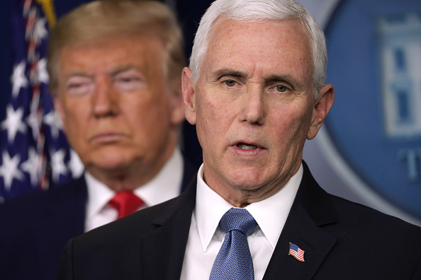 Mike Pence「President Trump Holds News Conference On Coronavirus At The White House」:写真・画像(13)[壁紙.com]