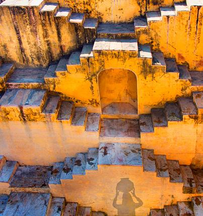 Rajasthan「View of huge water step ell.」:スマホ壁紙(2)