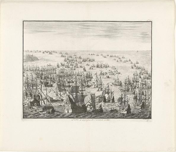 Netherlands「The sinking of the Spanish Armada in 1588, c」:写真・画像(9)[壁紙.com]
