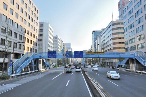 東京都中央区「Footbridge Over Street」:スマホ壁紙(12)
