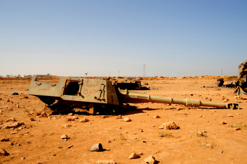 Rebellion「A tracked artillery vehicle destroyed by NATO forces outside Benghazi, Libya.」:スマホ壁紙(2)