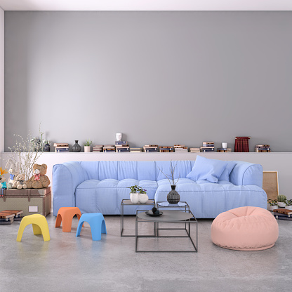 Pastel Colored「Authentic home apartment interior with blank wall」:スマホ壁紙(18)