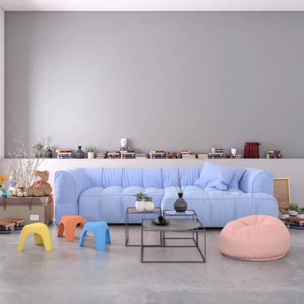 Authentic home apartment interior with blank wall:スマホ壁紙(壁紙.com)