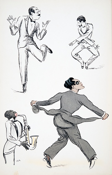 楽器「Three Gentlemen In Black Tie Perform Moves From The Charleston To A Saxophone」:写真・画像(14)[壁紙.com]