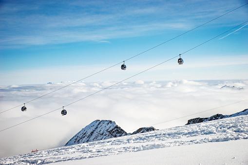 スキー「chairlifts, Kitzsteinhorn, salzburg, Austria」:スマホ壁紙(9)
