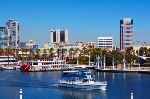 Cruise - Vacation「Sightseeing boat in the harbor of Long Beach.」:スマホ壁紙(11)