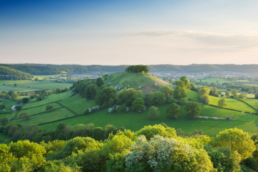 Cotswolds「Downham Hill from Uley Bury. The Cotswolds. Gloucestershire. England. UK.」:スマホ壁紙(13)