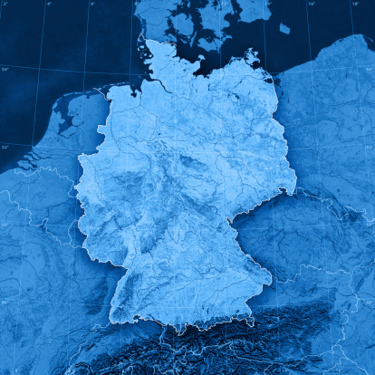 Digital Composite「Germany Topographic Map」:スマホ壁紙(4)
