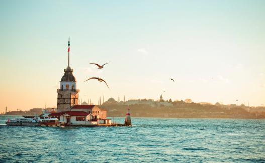 Turkey - Bird「Maiden's Tower / Kiz kulesi XXXL」:スマホ壁紙(4)