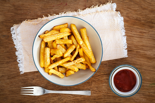 Savory Sauce「Bowl of swede fries and bowl of ketchup」:スマホ壁紙(14)