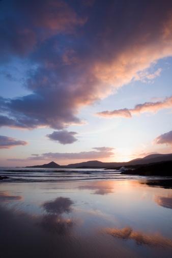 ビーチ「Sunset At Whitestrand Beach Near Castlecove」:スマホ壁紙(10)