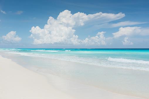 Blue「Caribbean Dream Beach Cancun Mexico」:スマホ壁紙(10)