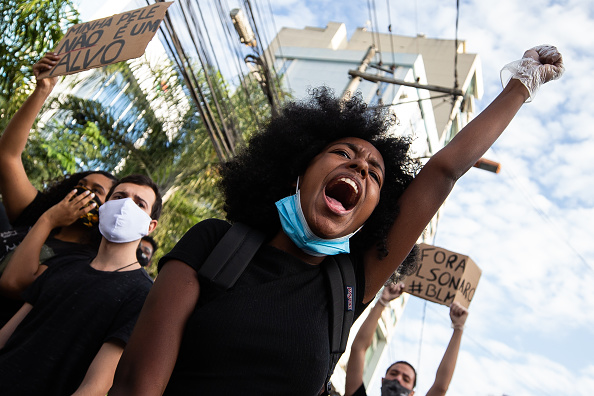 Infectious Disease「Black Lives Matter Protest in Sao Goncalo Amidst the Coronavirus (COVID - 19) Pandemic」:写真・画像(11)[壁紙.com]