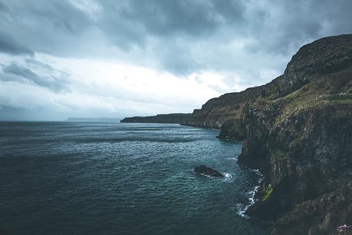 Irish Sea「atlantic coastline carrick a rede, northern ireland」:スマホ壁紙(7)