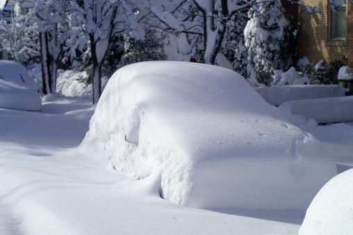 Snowdrift「Car after Snow Storm」:スマホ壁紙(5)