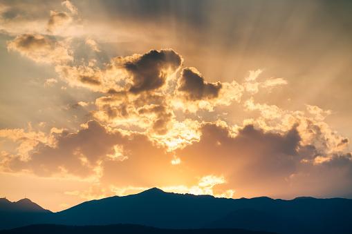 雲「Red sky sunset」:スマホ壁紙(18)