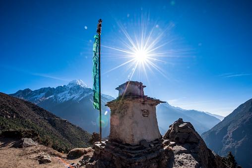 Khumbu「A Stupa that sits above Namche Bazaar in the Himalayas Nepal」:スマホ壁紙(2)
