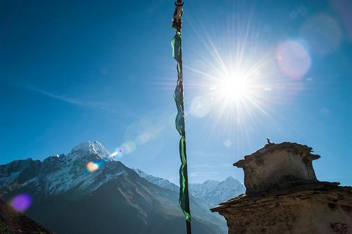 Khumbu「A Stupa that sits above Namche Bazaar in the Himalayas Nepal」:スマホ壁紙(3)