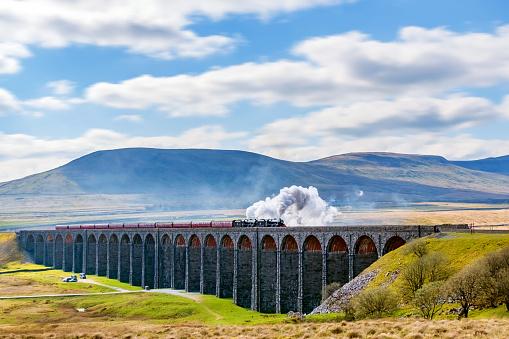 North Yorkshire「Ribblehead Viaduct, Yorkshire Dales, England, UK」:スマホ壁紙(7)