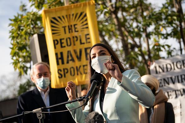 Alexandria Ocasio-Cortez「Politicians, Activists Rally In DC For Progressive Agenda For Biden Administration」:写真・画像(19)[壁紙.com]