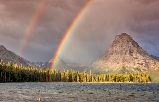 Double Rainbow「Two Medicine area of Glacier NP」:スマホ壁紙(11)