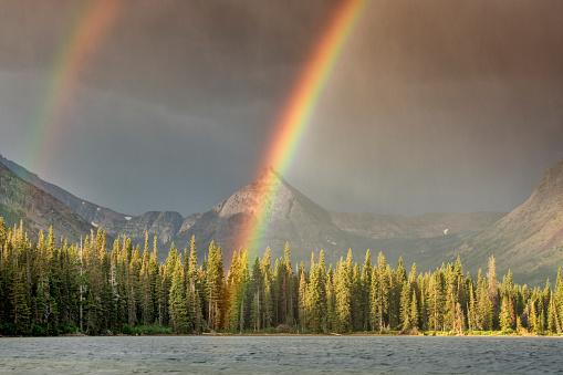 Double Rainbow「Two Medicine area of Glacier NP」:スマホ壁紙(10)