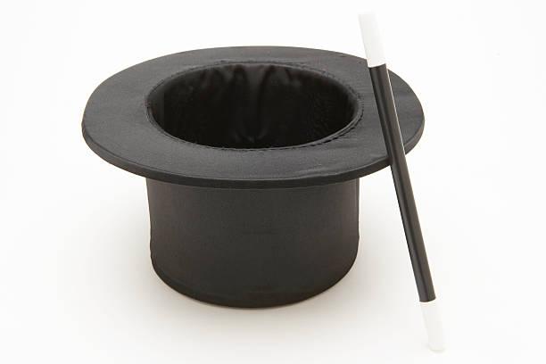 Top hat and magic wand:スマホ壁紙(壁紙.com)