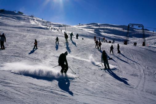 スノーボード「スキーヤーのアルプス」:スマホ壁紙(2)