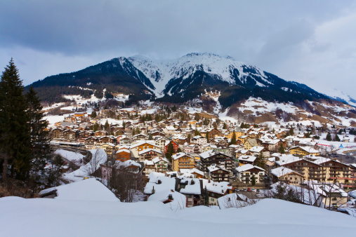 Ski Resort「Holiday resort Klosters in Grisons, Switzerland」:スマホ壁紙(12)