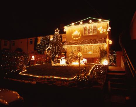 雪だるま「クリスマスの夜景」:スマホ壁紙(7)