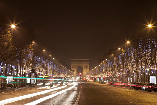 Arc de Triomphe - Paris「Christmas light in the street」:スマホ壁紙(18)
