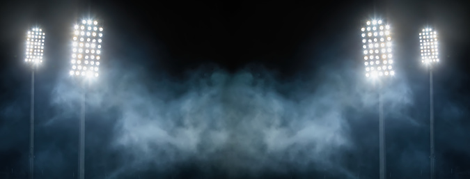 Match - Sport「stadium lights and smoke」:スマホ壁紙(6)
