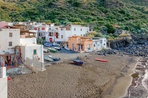 Aeolian Islands「Fishing village of Rinella in Salina, the second largest island of the Aeolian archipelago (Sicily, Italy)」:スマホ壁紙(10)