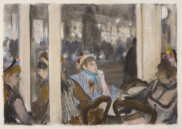 1877「Women On A Cafe Terrace Evening 1877」:写真・画像(3)[壁紙.com]