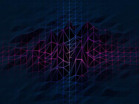 Connection「Polygon landscape」:スマホ壁紙(12)