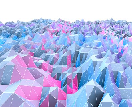 Virtual Reality「Polygon landscape」:スマホ壁紙(6)