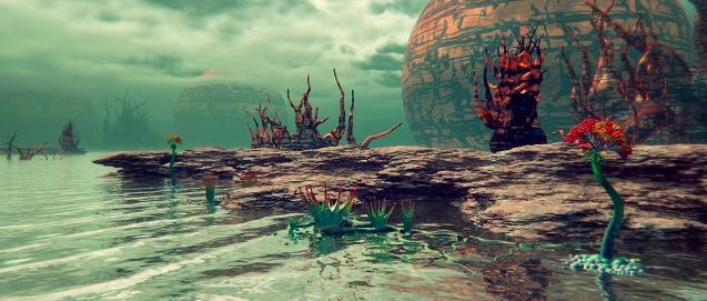 Fairy Tale「Alien nature landscape, exoplanet」:スマホ壁紙(11)