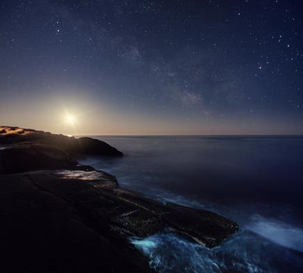 天の川「銀河系の海」:スマホ壁紙(17)