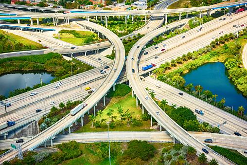 Miami「Freeway Intersection Aerial」:スマホ壁紙(5)