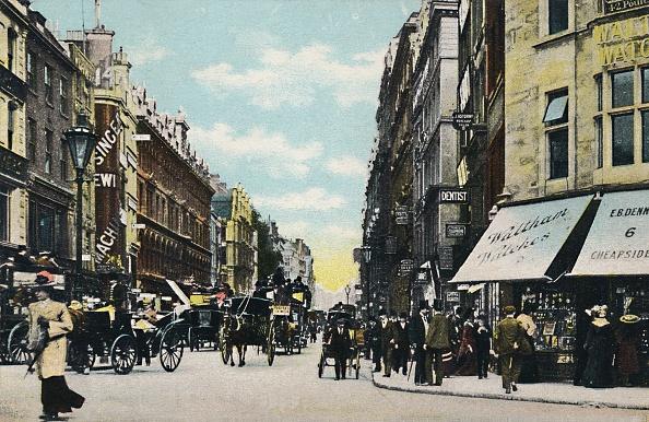 Hand Colored「Cheapside St Pauls End London 1」:写真・画像(8)[壁紙.com]