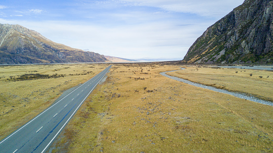 Mt Cook「The road out of the Mount Cook National Park.」:スマホ壁紙(18)