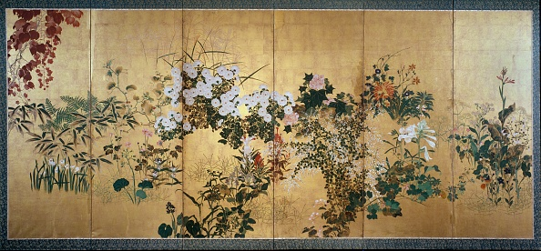 自然美「Screen With Autumn And Winter Flowers」:写真・画像(2)[壁紙.com]
