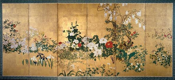 自生「Screen With Spring And Summer Flowers」:写真・画像(5)[壁紙.com]