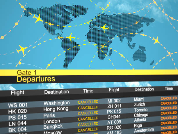 Airline schedule cancelled flying directions. Abstract 3d concept Covid 19:スマホ壁紙(壁紙.com)