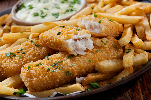 Pollock - Fish「Crispy Fish Sticks and Fries with Tarter Sauce」:スマホ壁紙(12)